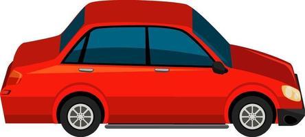 um carro vermelho isolado no fundo branco vetor