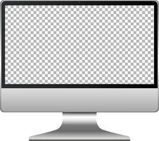 monitor de tela de computador isolado no fundo branco vetor