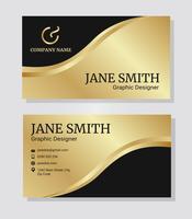 Modelo corporativo do cartão de visita do ouro vetor