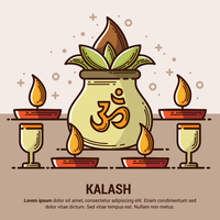 Ilustração de Kalash de cobre vetor
