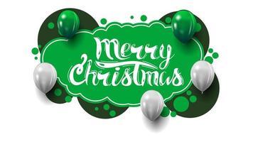 Feliz Natal, postal verde criativo com estilo grafite. modelo com bolhas e balões.