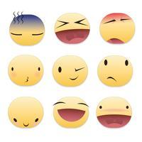 Pacote de Emoticons Pequenos vetor