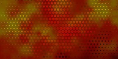 textura vector laranja escuro com círculos.