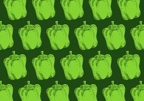 padrão retro de pimenta verde vetor