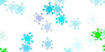 textura vector azul e verde claro com símbolos de doença.
