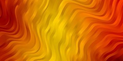 layout de vetor laranja escuro com curvas.