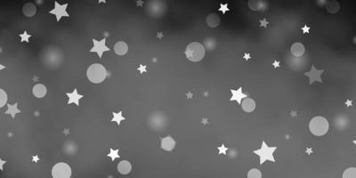 fundo cinza claro com círculos, estrelas.