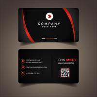Cartão de visita alinhado preto e vermelho vetor