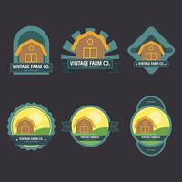 Ilustração do logotipo do mercado dos fazendeiros vetor