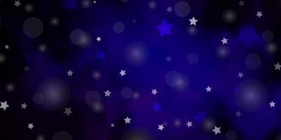 fundo vector rosa escuro, azul com círculos, estrelas.