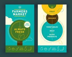 Folheto do mercado dos fazendeiros