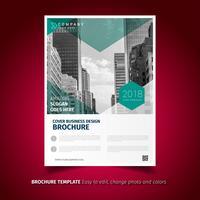 Folheto de negócios verde brochura