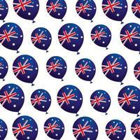 fundo de balões de hélio com bandeira austrália vetor