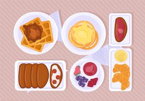 cena do café da manhã vetorial vetor