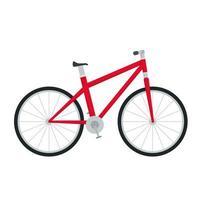 ícone isolado de esporte de veículo de bicicleta vetor