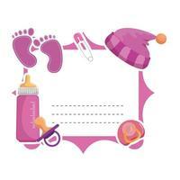 convite moldura para chá de bebê vetor