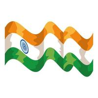 ícone isolado do país com bandeira indiana vetor