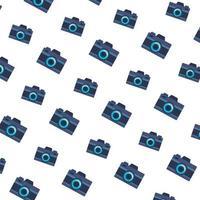 câmeras fotográficas gadgets padrão de fundo vetor