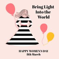 Feliz dia do dia das mulheres vetor