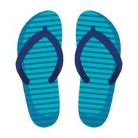 ícone de acessórios de chinelos de verão vetor