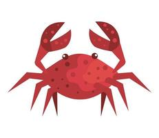 ícone isolado animal marinho caranguejo vetor