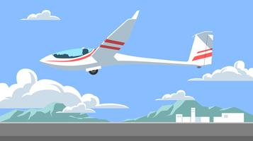 o planador tira do vetor