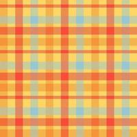 padrão de vetor sem costura tartan laranja cor