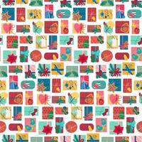 padrão sem costura vertical de caixas de presente de ano novo
