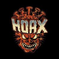 monstro corona hoax zombie vetor