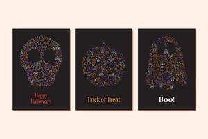 feliz dia das bruxas elemento de design para cartaz, cartão