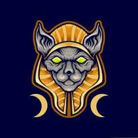 mascote gato spinx egípcio vetor