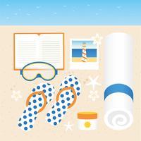 elementos vetoriais de viagens de férias de verão vetor