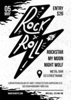 modelo de vetor de brochura plana de concerto de música rock