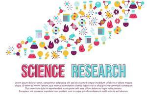 projeto da bandeira do conceito da palavra da feira de ciências