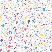 pinceladas coloridas desenhadas à mão