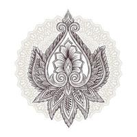 elementos florais ornamentais vetor