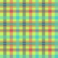 padrão de vetor sem costura multicolor de tartan