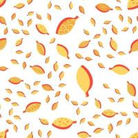 laranja estilizada folhas coloridas padrão sem emenda