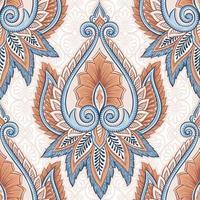 padrão floral étnico vetor