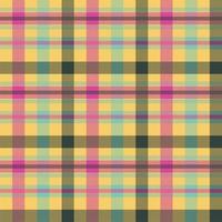 padrão de vetor sem costura cor tartan