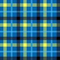 padrão de vetor sem costura de cor azul tartan