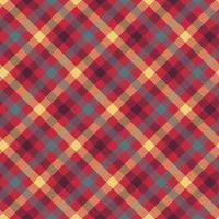 padrão de vetor sem costura xadrez vermelho