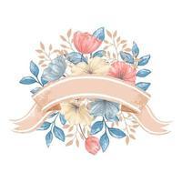 cartão floral estilo aquarela vetor