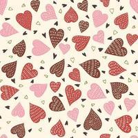 padrão de corações sem costura