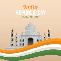 ilustração desenhada à mão do dia da república indiana