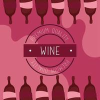 poster de vinho de qualidade premium com garrafas