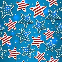 ilustração do dia do memorial com padrão sem emenda de estrelas. vetor