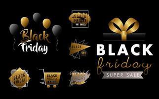 conjunto de etiquetas de venda sexta-feira negra