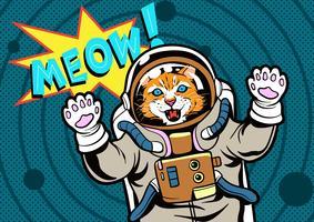 Arte pop do gato vetor