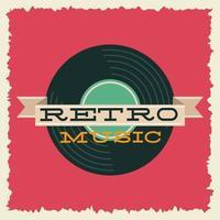 poster de festa estilo retro com disco de vinil vetor